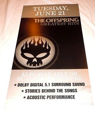 THE OFFSPRING~Greatest Hits~Promo Poster Flat~Double Sided~12x20~NM~2005