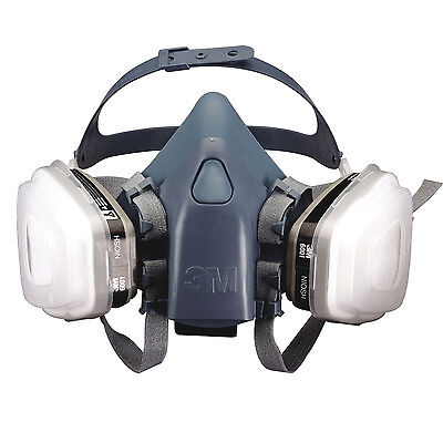 New Genuine 3M Respirator 7501 Half Face Dust Mask Small Spray Paint Filter L