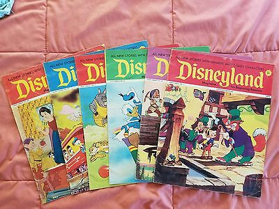 Vintage 1970's Disneyland 6 Magazine Lot Mickey, Donald, #11,14-17,49