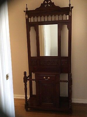 Antique Timber Hall Stand - Excellent condition