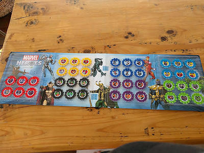 Woolworths Marvel Heroes Super Discs - Whole collection