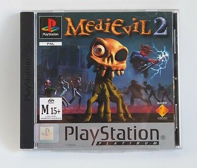 Medievil 2 Playstation 1 Game Platinum, VGC, Complete, Sony, PS1, PAL, PSX