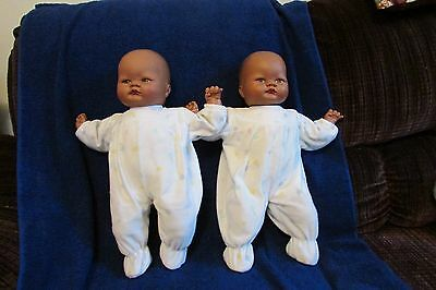 Vintage African American Playmates Baby Dolls - Twins