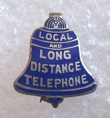 Antique Bell System Local and Long Distance Telephone Service Advertising Pin