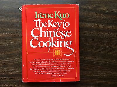 Irene Kuo The Key to Chinese Cooking Cookbook 1977 First Edition HB DJ
