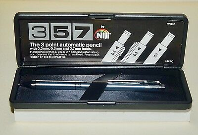 Vintage Niji 357 Mechanical Pencil 3 Point Automatic Prncil New