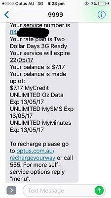 Optus $2 A Day Unlimited Text - Calls - Data Sim Card
