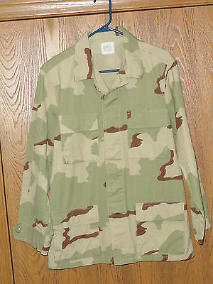 New W/o Tags Mens Size S Small Long Gov Issue Desert Camo Shirt Type Jacket Nwot