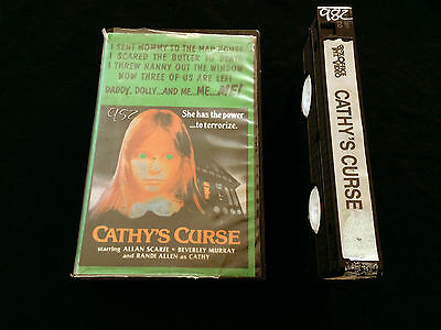 Cathy's Curse Vhs Box Office Int. Video 3 On A Meat Hook Ad Cathys Curse