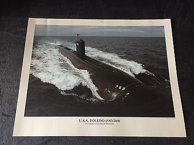 "U.S NAVY - USS TOLEDO SSN-769 - Los Angeles Class Attack Submarine Print 20""x16"""