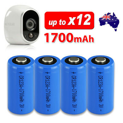 4-12X NEW 3V CR123A CR17345 Lithium Battery CR123 DL123A EL123A for Arlo Camera