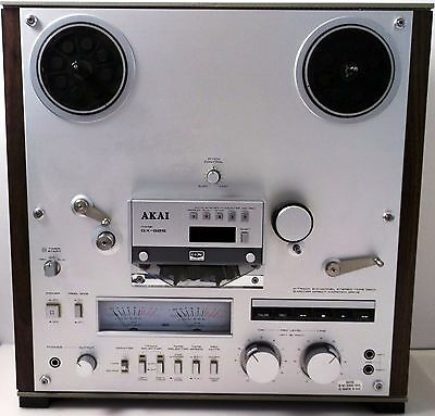 Vintage Akai Gx-625 Reel To Reel 4 Track 2 Channel Stereo Tape Deck Super Condtn