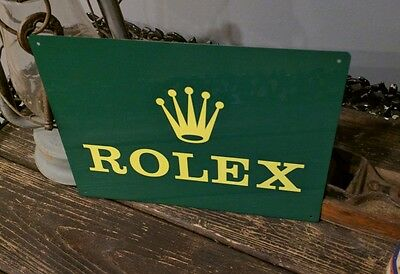 Rolex watch jewelry advertising vintage metal sign 12 x 9 50009