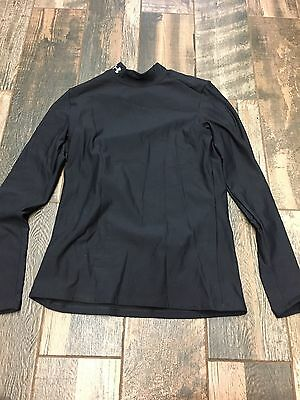 MEN'S UNDER ARMOUR Long SLEEVE SHIRt Black Mens Lg L Large Fitted