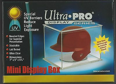 (12) Ultra Pro UV Protected Mini Helmet Display Case Boxes - BRAND NEW