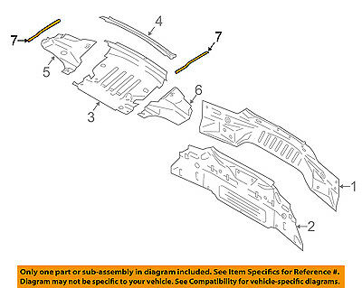FORD OEM 15-17 Mustang Rear Body-Seal FR3Z76546A02A