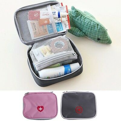 Pill Medicine Storage Bag Travel First Aid Emergency Case Kit Camping Outdoors