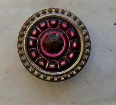 """WOW 5/8"""" Pearl Inset in Brass Antique Button 492:22"""