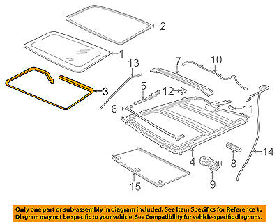 FORD OEM Sunroof-Seal Retainer 2L1Z7852124AAA