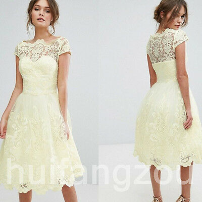 Mother Of the Bride Dresses Gowns Knee Length Size 4 6 8 10 12 14 16 18 20 Plus