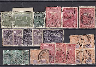 STAMPS..Australia..Tasmania, views x 23 used