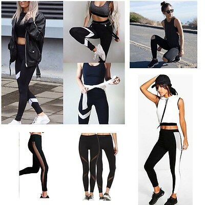 Women High Waist Yoga Fitness Leggings Running Gym Sports Pants Stretch Trousers