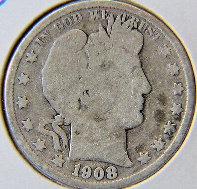 1908-O 50C Barber Half Dollar - Lot # HDB 246