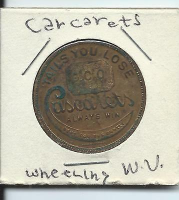 Good Luck Token - Wheeling, WV - Cascarets for the Bowels!