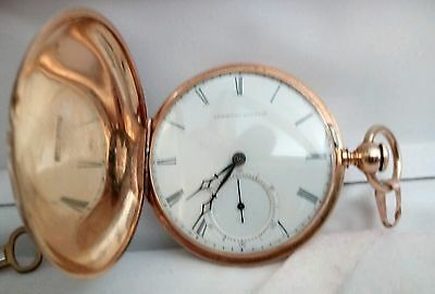heavy 18k size 10 walltham p .s bartlett pocket watch