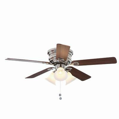 Clarkston 44 in. Brushed Nickel Ceiling Fan with Light Kit
