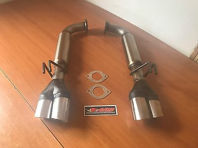COMMODORE VE-VF V6-V8 STAINLESS STEEL SPORTS REAR MUFLERS suit  SEDAN & S/WAGON