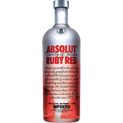 Bottle Vodka absolut ruby red grapefruit