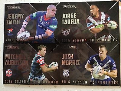 2017 NRL Traders, Season To Remember. 4 Cards