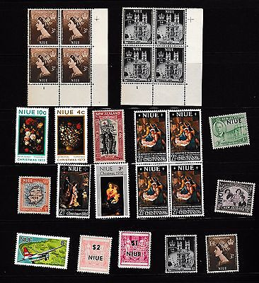 #117-Niue mint never hinged early selection of stamps