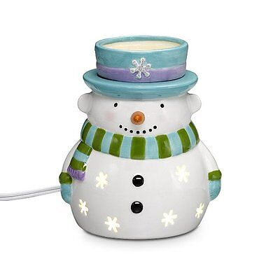 ~ICY ScentGlow WARMER~Snowman~**RARE & VHTF**~Winter Fun~Electric~Partylite~NIB~