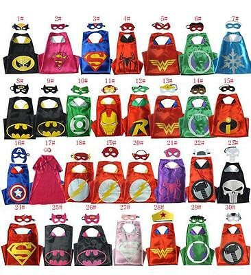 Superhero Cape (1 cape+1 mask) for kids birthday party favors and ideas superman