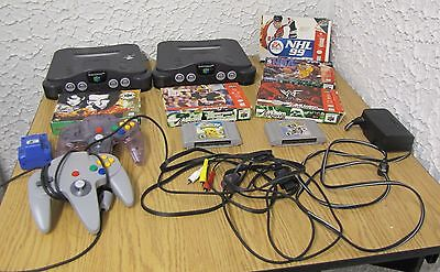 2 Nintendo 64 video game with 2 controller & 6 games