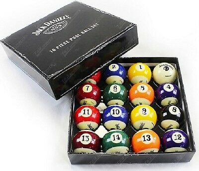 "JACK DANIELS KELLY BALL SET - 2"" - Snooker Billiards Pool Room Supplies"