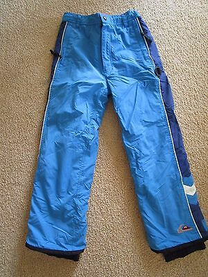 Boys Quiksilver Boardwear  SKI SNOWBOARD PANTS  Size M for 12 years of age