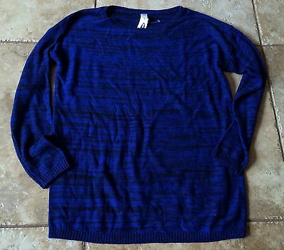 Old Navy Maternity Xl Medium M Blue & Black Sweater New Nwt Motherhood