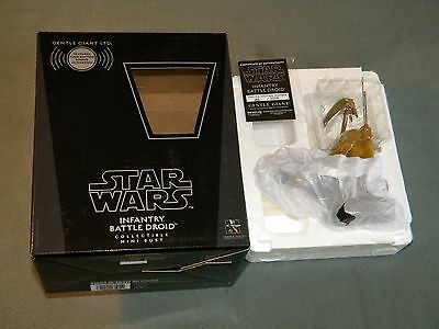 Star Wars Infantry Battle Droid Mini Bust Gentle Giant With Sound, NEW