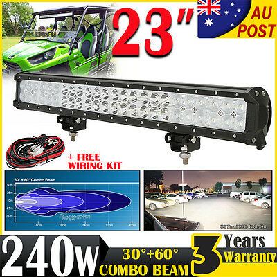 "22"" 240W CREE LED Work Light Bar Spot Flood Offroad Lamp Driving Fog ATV 4X4WD"