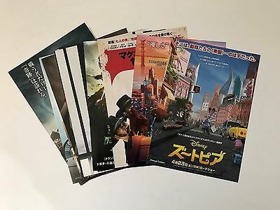Japanese Movie Flyers - lot of 17 different -Disney, Magnificent 7, Exodus, more