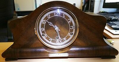 Antique British Made Mantle Clock cleaned/serviced in 2015 Excellent Mechanicaly