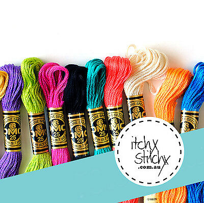 30 x Original DMC Stranded Embroidery Floss Thread - Pick Your Own Colours
