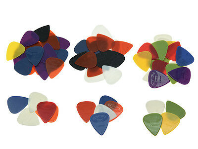 Pack of 100 Alice Projecting Nylon Guitar Bass Picks 0.58/0.71/0.81/0.96/1.2/1.5