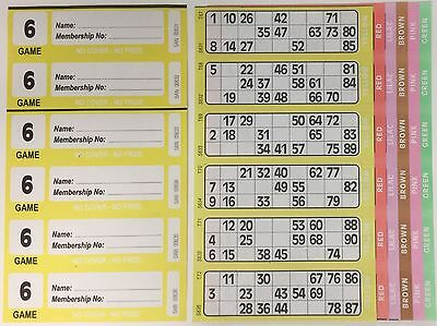 300 6 Page (Games) Books - XL Bingo Tickets Booklets- Similar to Jumbo