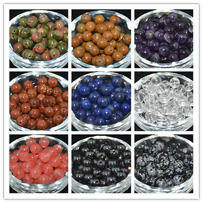 Wholesale Natural Gemstone Round Spacer Beads 4mm 6mm 8mm10mm DIY Jewelry