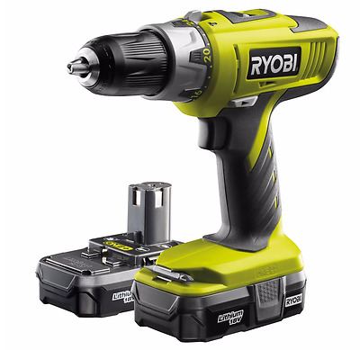 Cordless Drill New 2 Battery and Charger Combi Tool Hammer and Driver Drilling