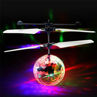 Electric RC Fly Ball Infrared Induction Aircraft LED Flash Light Remote Toy Gift